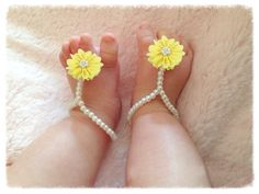 Flower Bead Baby Sandal Shoe Photography Prop Outfit Wedding Newborn Infant