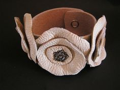 DIY Leather Flower Cuff