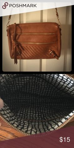 Stitch Fix item!!  Collective Concepts purse Brown leather - tons of organizational pockets inside and out!  Gently used, all zippers work great!  Looks fabulous with jeans. Collective Concepts Bags Crossbody Bags