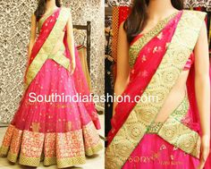 Elegant Bridal Half Saree ~ Celebrity Sarees, Designer Sarees, Bridal Sarees, Latest Blouse Designs 2014