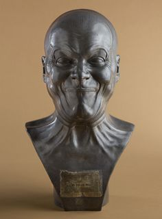 "'A Strong Man' by Franz Xaver Merrserschmidt;  tin-lead cast;  sculpted between 1771-1783;  part of a private collection in New York;  one of over 60 ""Character Heads"""