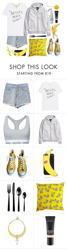 """""""Banana Boat"""" by cosmoschaos on Polyvore featuring Calvin Klein, H&M, Converse, Kate Spade, Viners, BaubleBar e MAC Cosmetics"""