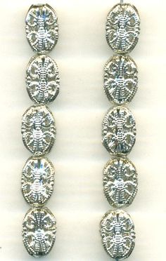 13mm Silver Concave Filigree Bead