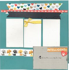 2 page Scrapbooking Layout Kit Happy is the by CropALatteToGo