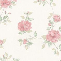 """Silk Impressions 32.7' x 20.5"""" In Reg Rose Trail Wallpaper"""