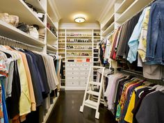 Tour TV Personality Giuliana Rancic's Walk-In Closet | Decorating and Design Ideas for Interior Rooms | HGTV