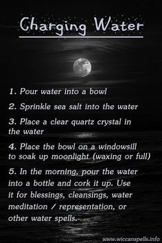 Charging Water (Printable Spell Page) | Witches Of The Craft®
