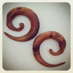 Sawa Wood Elephant Spirals on Etsy, $39.99