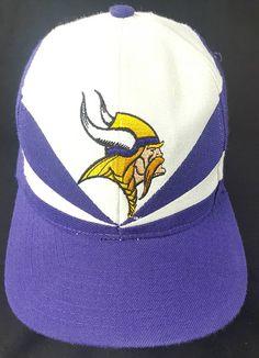 d796440a0d824 Minnesota Vikings Apex One Proline Authentic Snapback Hat Vintage 90s FREE  Shipping NFL Football Pro Line