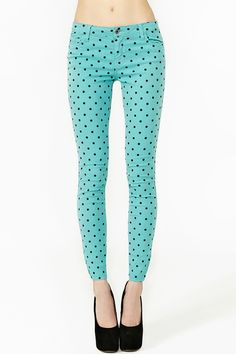 Hot Spot Jeans in Mint