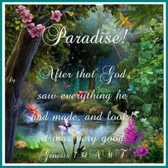 Mankind was always meant to live forever on a Paradise earth not in heaven. Read also Matthew Psalms Revelation Isaiah 65, Paradise Pictures, Bible Knowledge, Paradise On Earth, Bible Truth, Jehovah's Witnesses, Bible Scriptures, Spiritual Quotes, Spiritual Inspiration