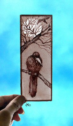Items similar to Stained Glass Window small panel, kiln fired, Hand painted Bird, on Etsy Modern Stained Glass, Stained Glass Paint, Stained Glass Birds, Stained Glass Panels, Stained Glass Projects, Fused Glass Art, Stained Glass Patterns, Leaded Glass, Mosaic Glass