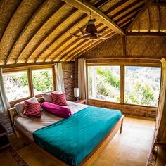 Bedroom with mountain view  ________________________ #bedroom #rustic #view #villa #villarental