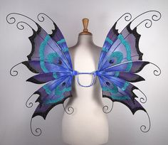 Fairy wings - Peacock - Amazing for fairy costume, Halloween costume, wedding, fairy photography - Blue fairy wings- Handmade - Renee design Halloween Wings, Halloween Costumes, Fairy Costumes, Classy Halloween, Halloween Inspo, Halloween 2018, Halloween Town, Adult Fairy Wings, Fairy Photography