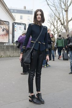 MartaDyks off duty in Paris. | Street Style