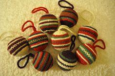 Ravelry: Fair Isle Felted Ornament pattern by Lion Brand Yarn