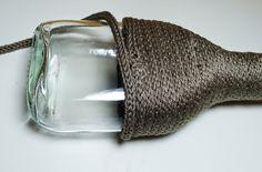 DIY Vase gestrickt Strickliesel, gestrickte Vase, stricken, Stirckideen, Stricken mit der Strickliesel, Stricken für Kinder