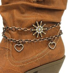 Cowgirls Fashion  Boot Jewelry Boot Bling Western Bronze Rhinestone Spur available at www.CowgirlsFashion.com