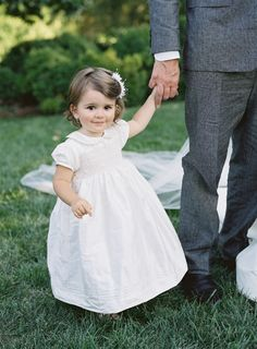 The sweetest little flower girl: http://www.stylemepretty.com/2015/11/24/at-home-wedding-in-the-blue-ridge-mountains/ | Photography: Jose Villa – http://josevilla.com/