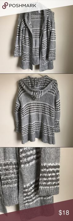 Fuzzy Hooded Open Cardigan Super soft Open Cardigan has a nice sized hood. In great condition. Bethany Mota Sweaters