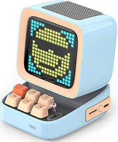 Divoom Ditoo Retro Pixel Art Game Bluetooth Speaker with 16X16 LED App Controlled Front Screen (Blue) … Led Display Board, Bluetooth, Loudspeaker Enclosure, Surround Sound Speakers, Pixel Art Games, Led Diy, Signal To Noise Ratio, Diy Clock, App Control