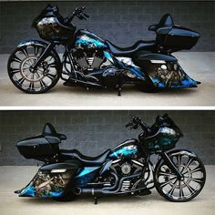 Harley Davidson Bike Pics is where you will find the best bike pics of Harley Davidson bikes from around the world. Harley Bagger, Bagger Motorcycle, Motorcycle Paint Jobs, Harley Bikes, Harley Davidson Road Glide, Harley Davidson Motorcycles, Custom Motorcycles, Triumph Motorcycles, Custom Baggers