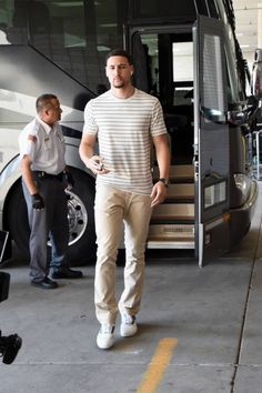 Klay Thompson of the Golden State Warriors arrives at the arena before the game against the Utah Jazz during Game Four of the Western Conference. Cyo Basketball, Basketball Games Online, Golden State Basketball, Jazz Basketball, Fantasy Basketball, Basketball Shoes For Men, Basketball Players, Curry Warriors, Golden State Warriors Pictures