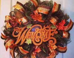 Fall Wreath/ LAST ONE/ Newlywed Wreath/ by Wreaths4u2byPaula