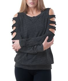 Another great find on #zulily! Charcoal Laser Cutout Sweatshirt #zulilyfinds