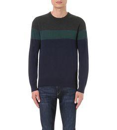 MICHAEL KORS Striped extra-fine merino wool knitted jumper