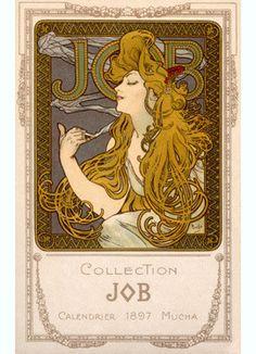 Nouveau Job Calendar by Alphonse Mucha Fine Art Print