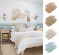 We've turned to the experts to find out which bedroom color schemes they typically use for clients. If you're in need of a color scheme for a room in your home, here are some palettes to help you pick out furnishings.