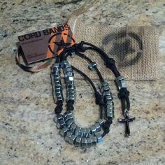Another example of our Combat Rosary done in black paracord.