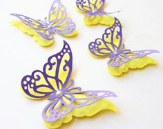 3D Butterfly Wall Decor: 3D wall butterflies by hipandclavicle