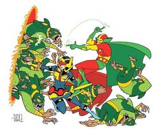 Promo art for a Mr. Miracle and Big Barda series by Ramon Perez that never got off the ground at DC. This looks like so much fun.