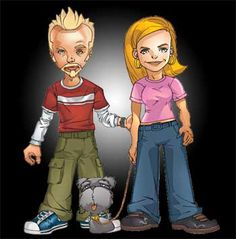 Spaced - Tim, Daisy and Colin