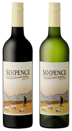 I like the depth that the shading work gives to this #label   sheep, farm, #wine / vinho / vino mxm