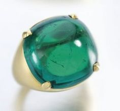anello al mignolo chevalie rcabochon smeraldi bulgari