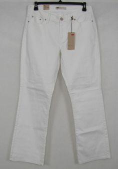 Levi's Jeans 529 Curvy Fit Boot Cut Women's White Jeans Size 14 NEW #Levis #BootCut 27.99