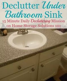 Declutter under bathroom sink cabinets {15 minute mission as part of Declutter 365 missions at Home Storage Solutions 101}