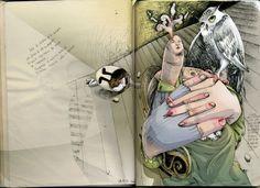 Gran Comadreja Blanca, unconscious matter by Daniela Guglielmetti, via Behance