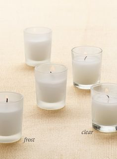 long burning 10-hour candles in clear glass restaurant bar hotel event party wedding wholesale event party floral supplies DIY bride flower market