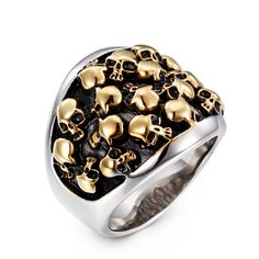 316L Stainless Steel Skull Ring The Expendables Skull Wedding Ring For Men