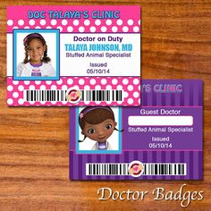 Doc McStuffins Party Collection by RedVelvetParties on Etsy