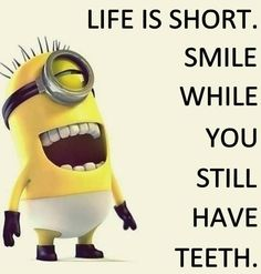 Funny Minion Pictures Below are some very funny minions memes, and funny quotes, i hope you will enjoy them at your best . and why not whatever minions do they always look funny and stupid . So make sure to share the best minions with your friends . Funny Minion Memes, Minions Quotes, Minion Humor, Lachen Macht Happy, Minions Love, Minion Stuff, Dental Humor, Frases Humor, Memes Humor
