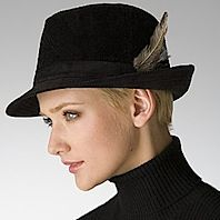 A Ralph Lauren fedora style...great look for long or short hair.