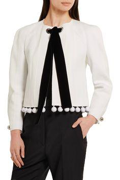 Shop on-sale Proenza Schouler Pompom-embellished crepe, matelassé and cloqué jacket. Browse other discount designer Jackets & more on The Most Fashionable Fashion Outlet, THE OUTNET.COM