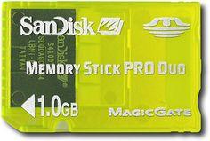 """SanDisk - 1GB Memory Stick PRO Duo Gaming Memory Card - Yellow"" on Purchx"