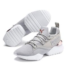 Puma Shoes Women, Basket Style, Baskets, Gold G, Rose Gold, Muse, Chunky Sneakers, Women's Sneakers, Sneakers Fashion