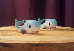 Blue Whale Ceramic Salt and Pepper Shakers by TimelessAcquisitions